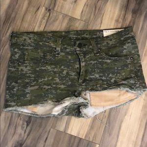 Rag & bone camo shorts